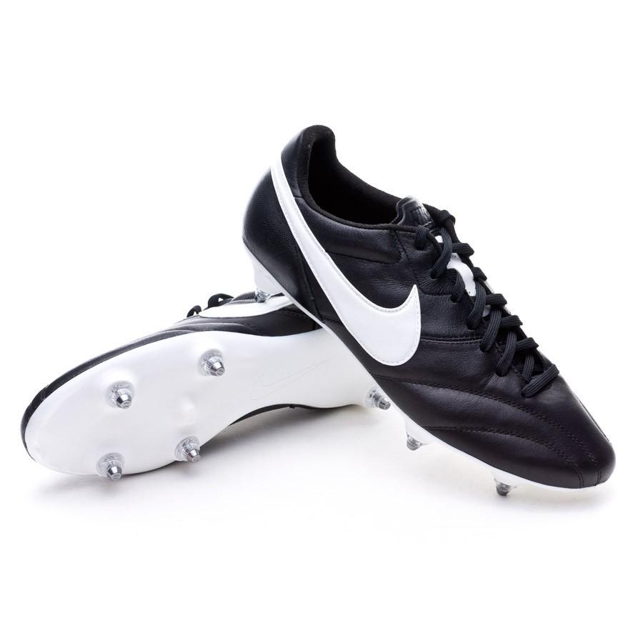 ba4cde931fde Football Boots Nike Tiempo Premier SG Black-White - Football store ...