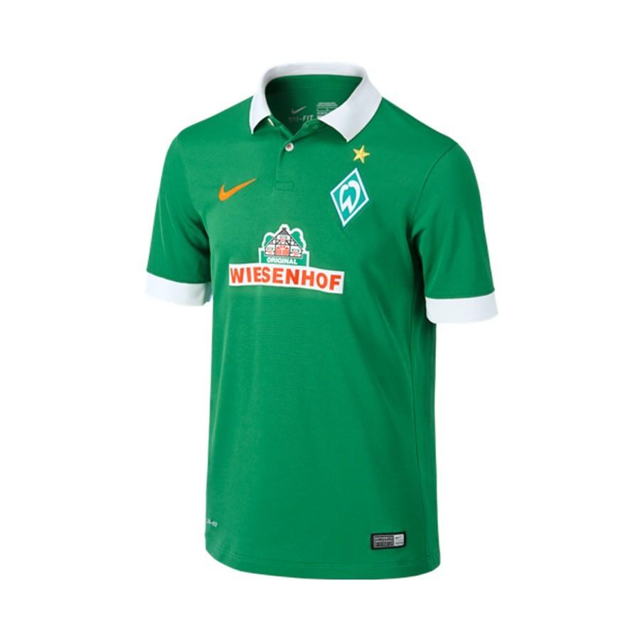 ... Camiseta Werder Bremen Primera Equipación 2014-2015 Verde-Blanco.  CATEGORY ca70e915622bb