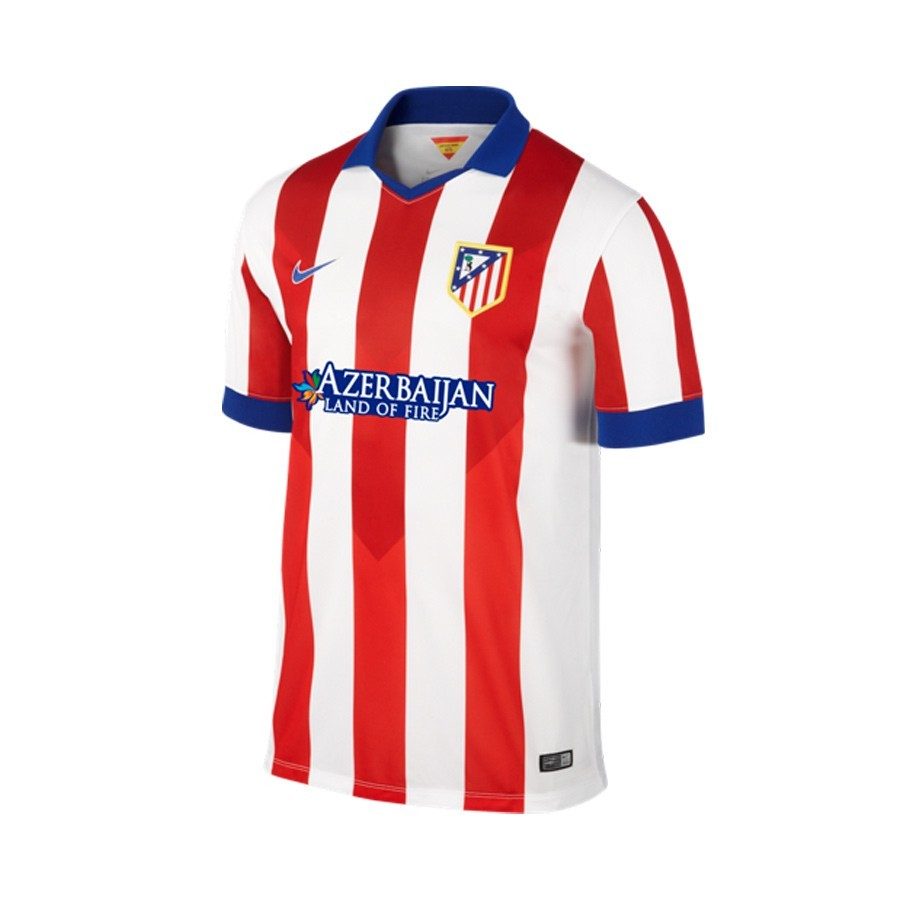 0907c2d36 Jersey Nike Atletico de Madrid Home Stadium 2014-2015 Red-White ...