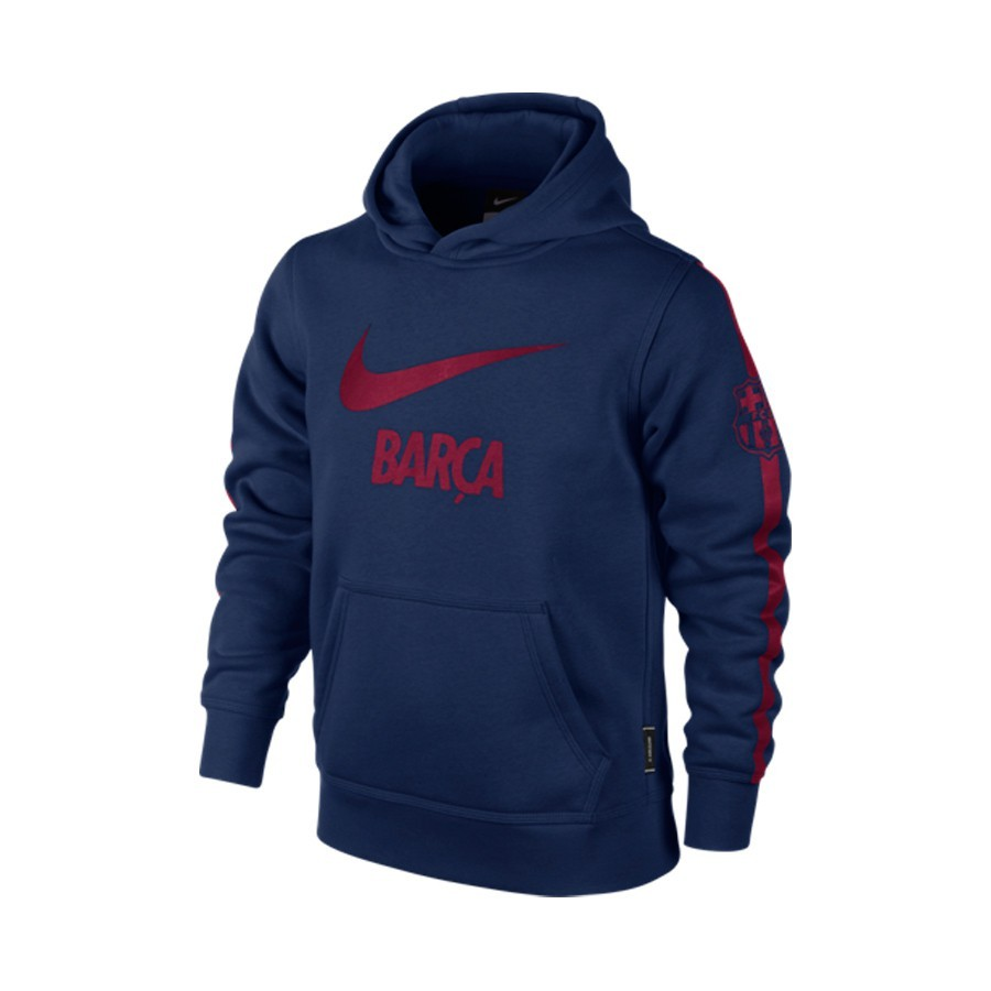 Sweatshirt Nike Jr FC Barcelona Brushed Fleece Pullover Blue-Red ... 3c5ce92c1a0