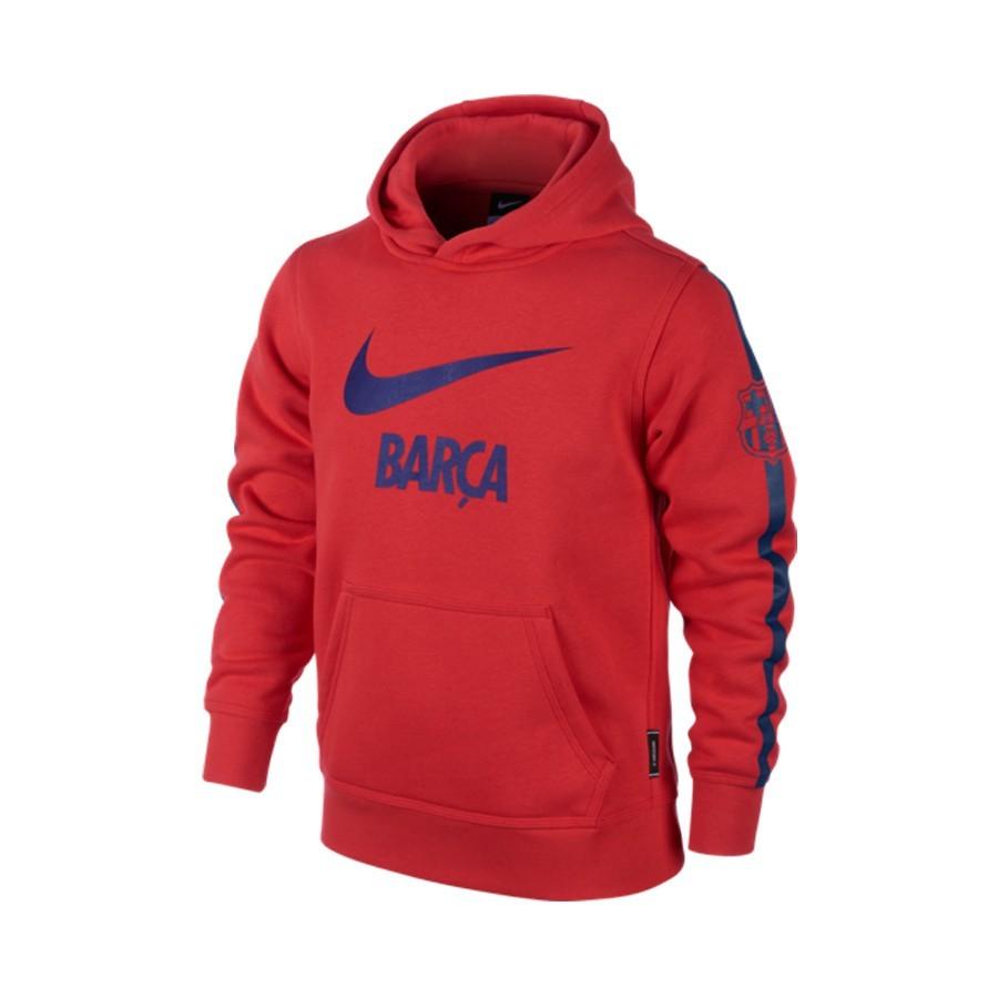 130fbd12a652 Sweatshirt Nike Jr FC Barcelona Brushed Fleece Pullover Red-Blue - Football  store Fútbol Emotion