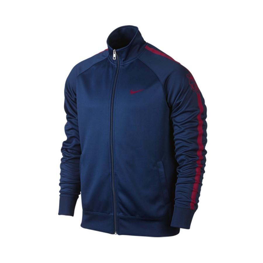 47b53a3c929a3 Jacket Nike FC Barcelona Core Trainer 2014-2015 Marino - Tienda de ...