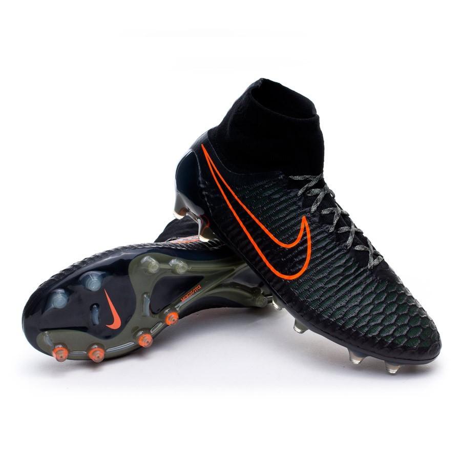 c980ea220d9a Nike Magista Obra FG Football Boots. Black-Rough green-Hyper crimson ...