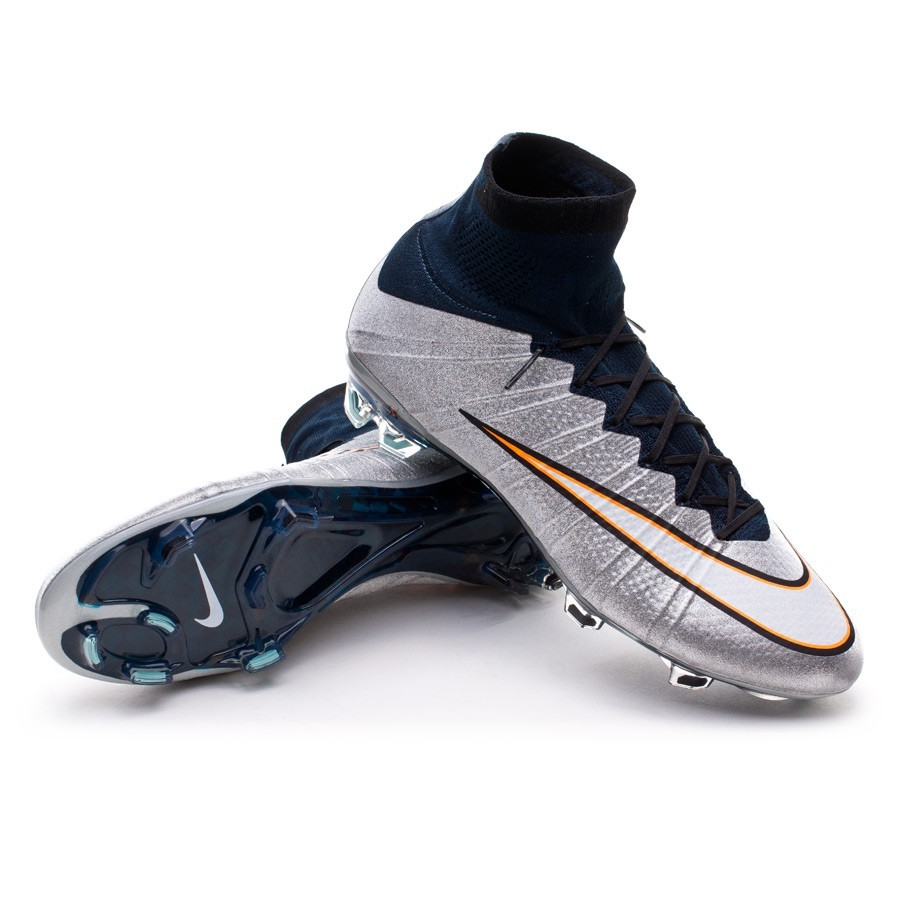 the best attitude 4c4aa 8b72c Football Boots Nike Mercurial Superfly CR FG ACC Metallic silver ...