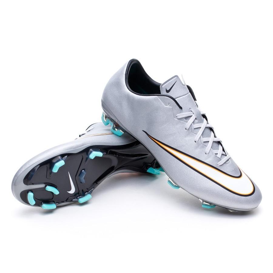 70fec69170c Football Boots Nike Mercurial Veloce II CR FG Metallic silver-White ...