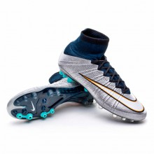 Mercurial Superfly CR AG-R ACC Metallic silver-White-Hyper turquoise