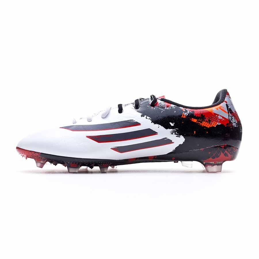 buy online 0fd22 5f80e Chaussure de foot adidas Messi 10.2 TRX FG White-Granite-Scarlet - Boutique de  football Fútbol Emotion
