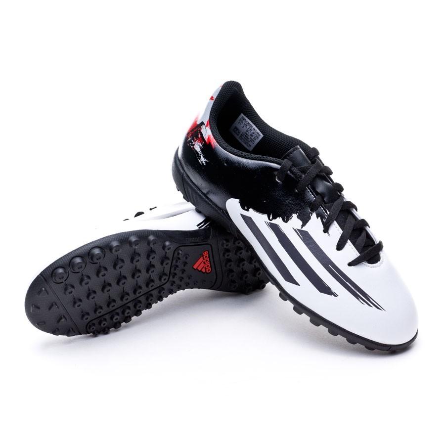 Bota de fútbol adidas Messi 10.4 Turf Niño White-Granite-Scarlet ... 8c00ba7c245ad
