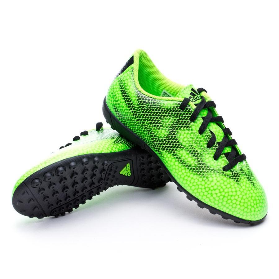 7a30ae20b4d Football Boots adidas Jr F5 Turf Solar green-White-Black - Football ...