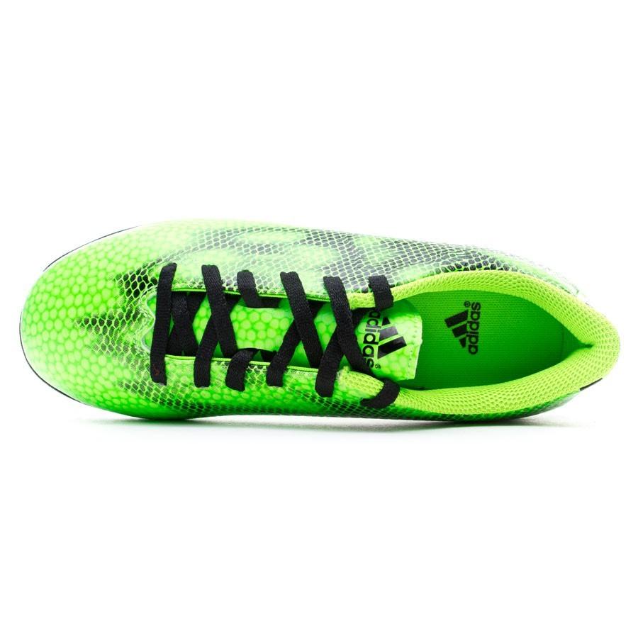 00d8951d886 Football Boots adidas Jr F5 Turf Solar green-White-Black - Tienda de fútbol  Fútbol Emotion
