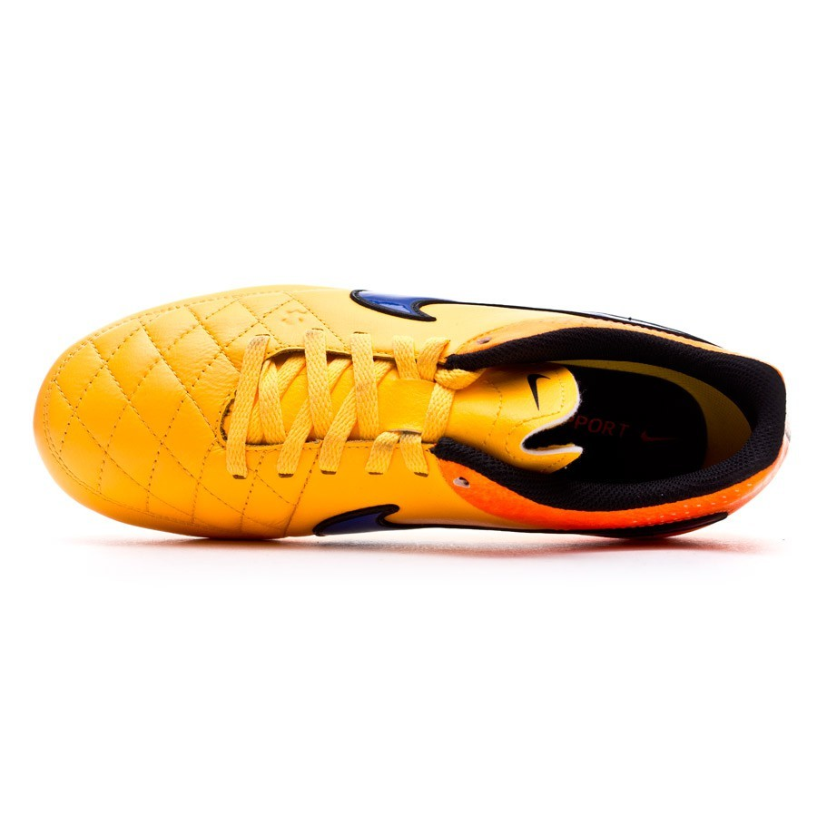 low priced 31040 f4c6c ... Bota Tiempo Genio Leather FG Niño Laser orange-Persian violet-Total  orange. CATEGORY