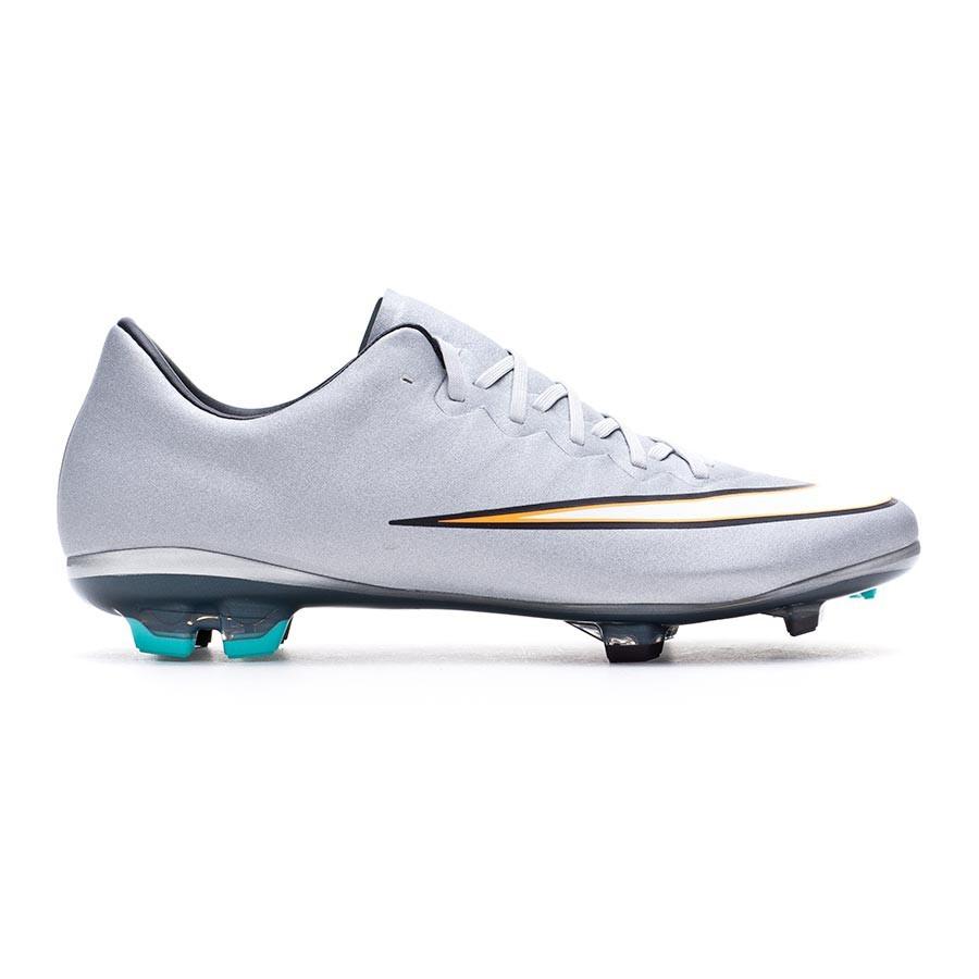 Bota de fútbol Nike Mercurial Vapor X CR7 FG Niño Metallic  silver-White-Hyper turquoise - Leaked soccer 34e123ad08da3