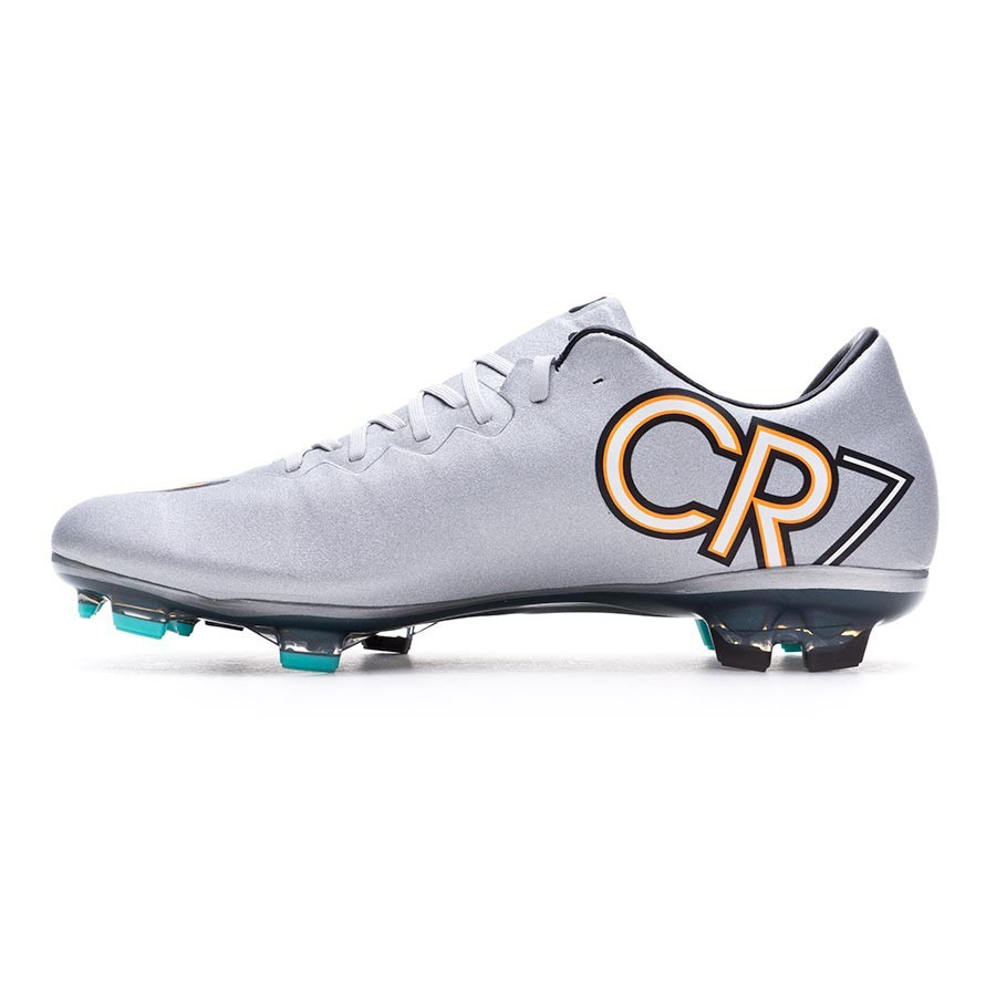 new product 1a313 86d92 Boot Nike Kids Mercurial Vapor X CR7 FG Metallic silver-White-Hyper  turquoise - Football store Fútbol Emotion