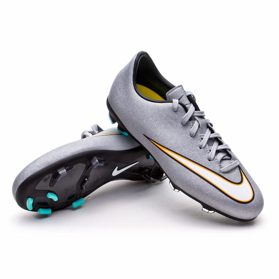 08e2255f9da Football Boots Nike Jr Mercurial Victory V CR7 FG Metallic silver ...