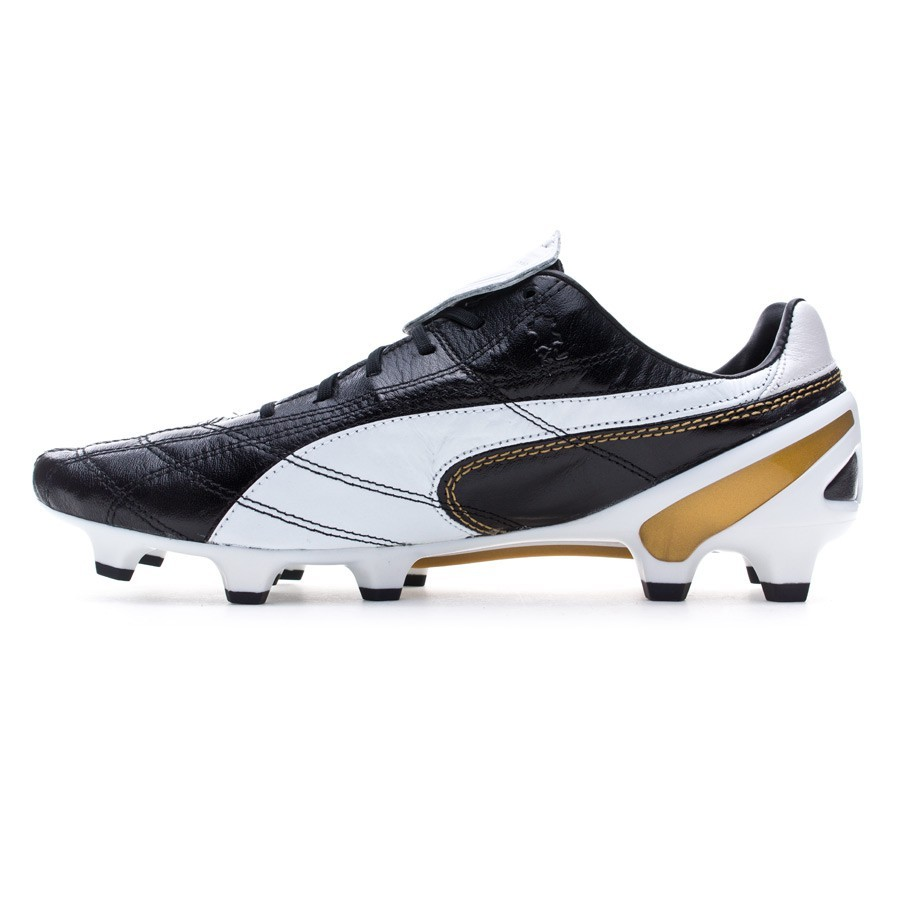 Chuteira Puma King SL Classico FG Limited Edition Black-White-Gold ... 3f520f4f2c167