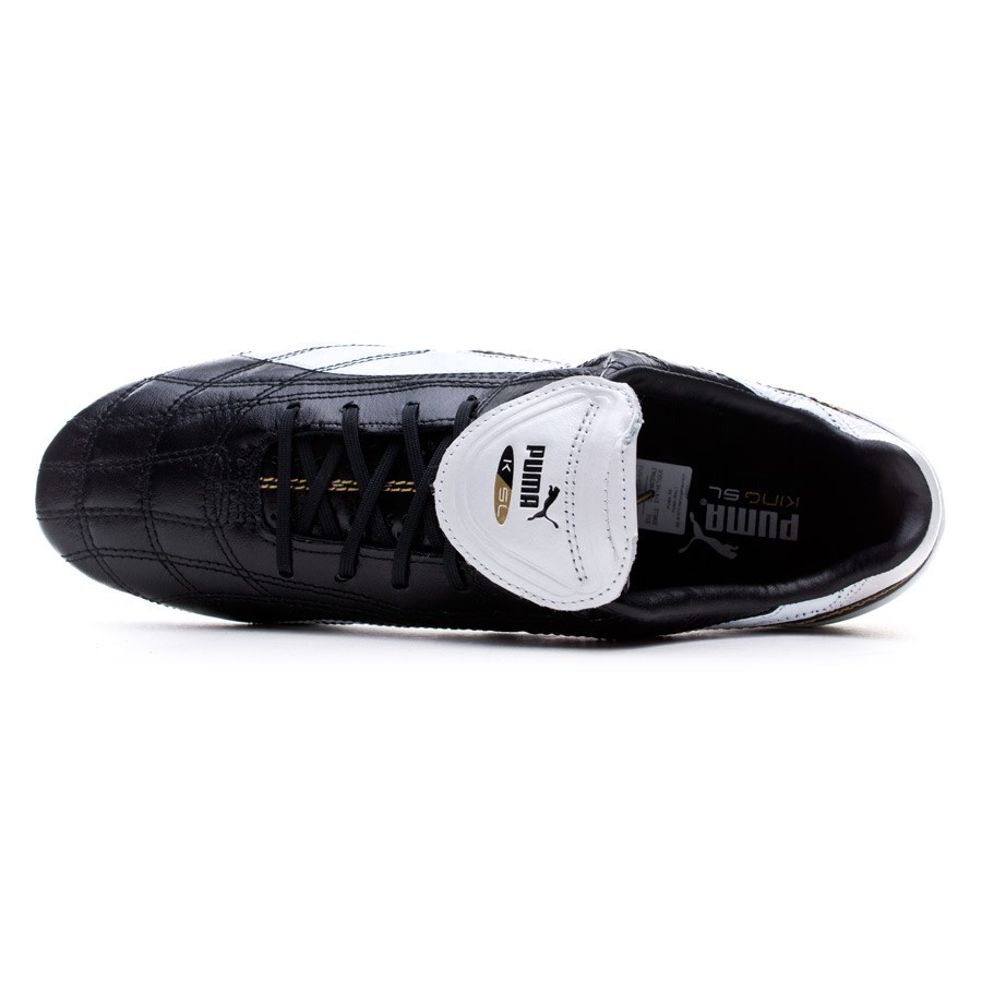 82739666 Zapatos de fútbol Puma King SL Classico FG Limited Edition Black-White-Gold  - Tienda de fútbol Fútbol Emotion