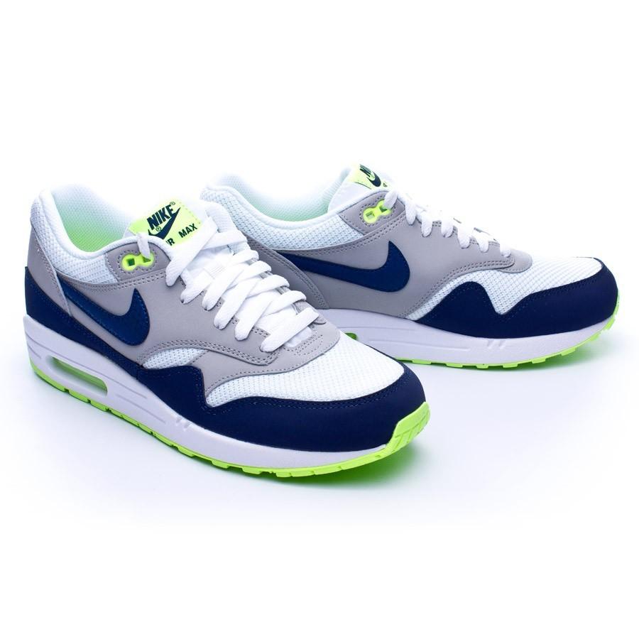 online store 5b2bb f4c3d Tenis Nike Air Max 1 Essential White-Midnavy-Silver-Green - Tienda de  fútbol Fútbol Emotion