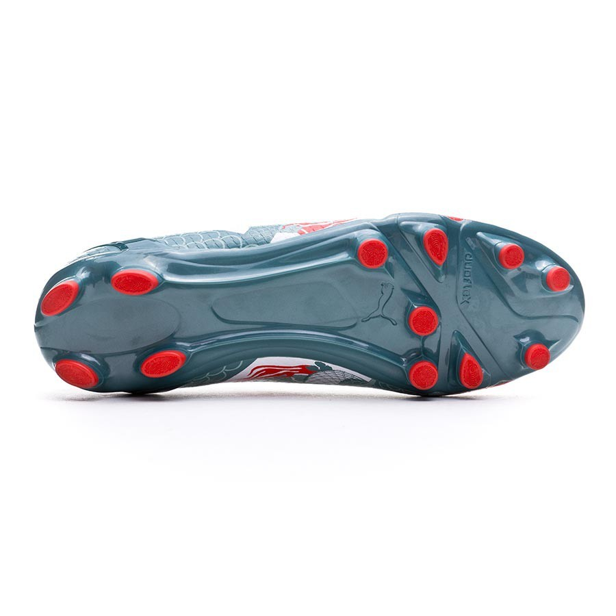 64b5f991bd4 Boot Puma evoSPEED 4.3 Graphic FG White-Sea pine-High risk red -  Soloporteros es ahora Fútbol Emotion