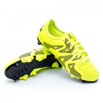 Bota  adidas X 15.3 FG/AG Piel Niño Solar yellow-Core Black-Frozen yellow