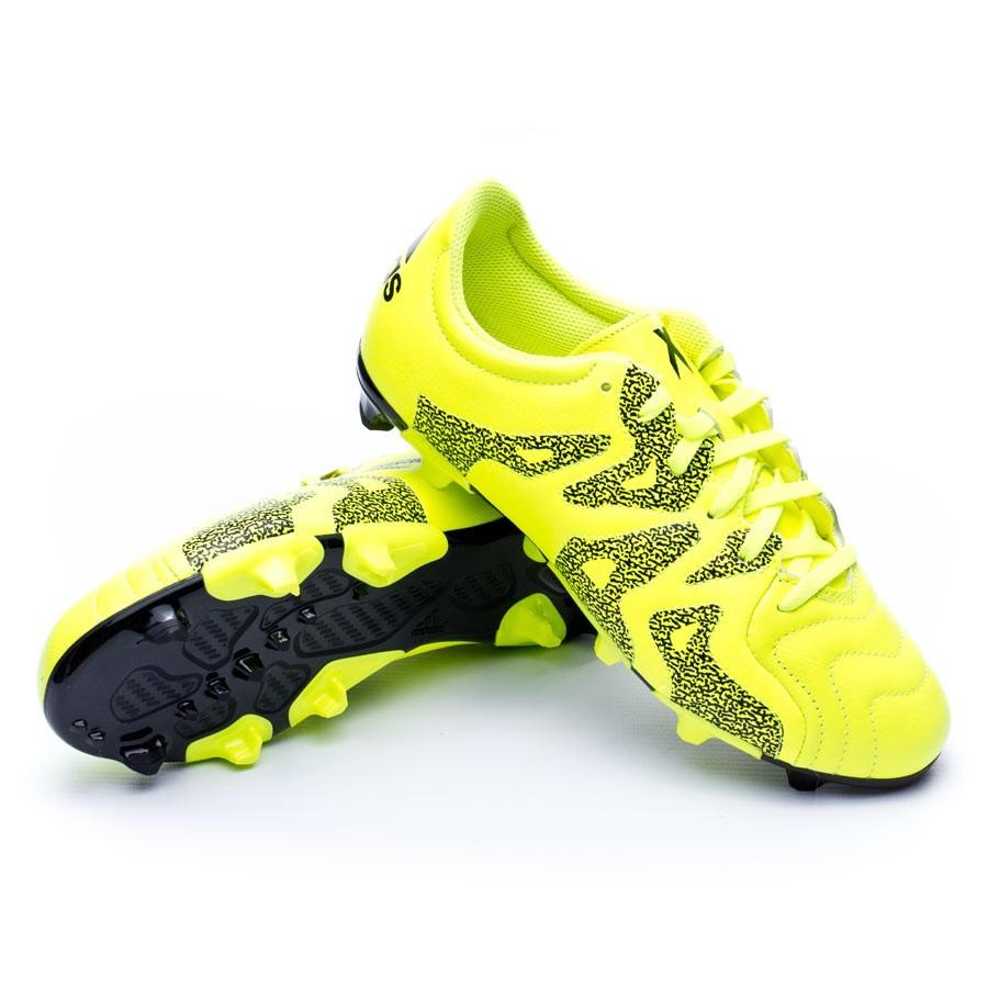 official photos ba7d1 33975 Bota de fútbol adidas X 15.3 FGAG Piel Niño Solar yellow-Core Black-Frozen  yellow - Leaked soccer