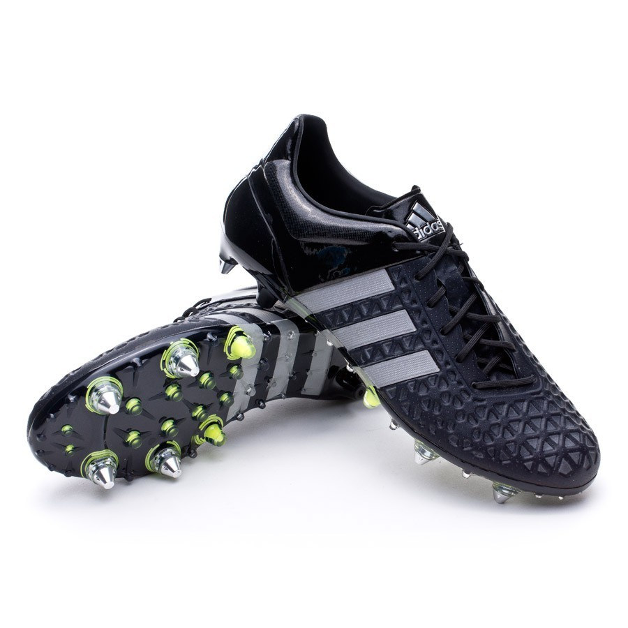 Boot adidas Ace 15.1 SG Core black-Silver metallic-Solar yellow ... 517dc92b2