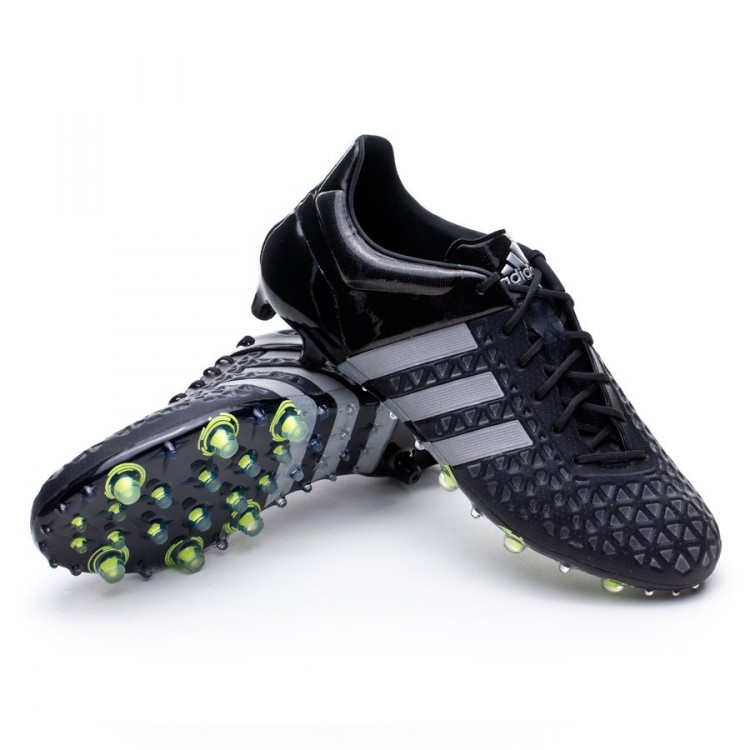 b6f4d587f Football Boots adidas Ace 15.1 FG AG Core black-Silver metallic ...