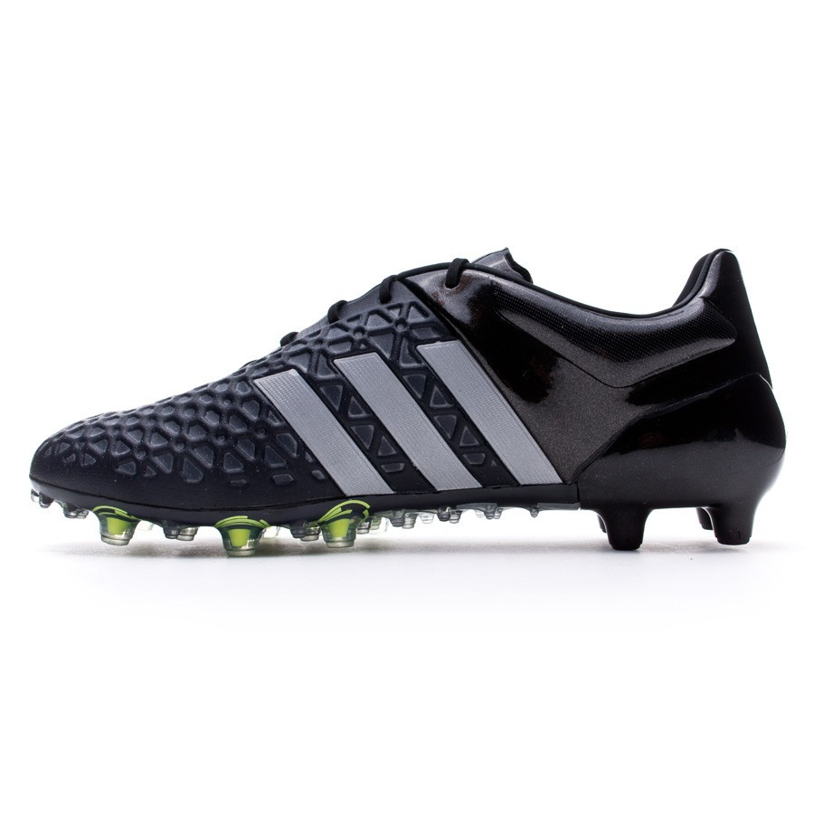 half off cb30b 924bd Boot adidas Ace 15.1 FGAG Core black-Silver metallic-Solar yellow -  Football store Fútbol Emotion