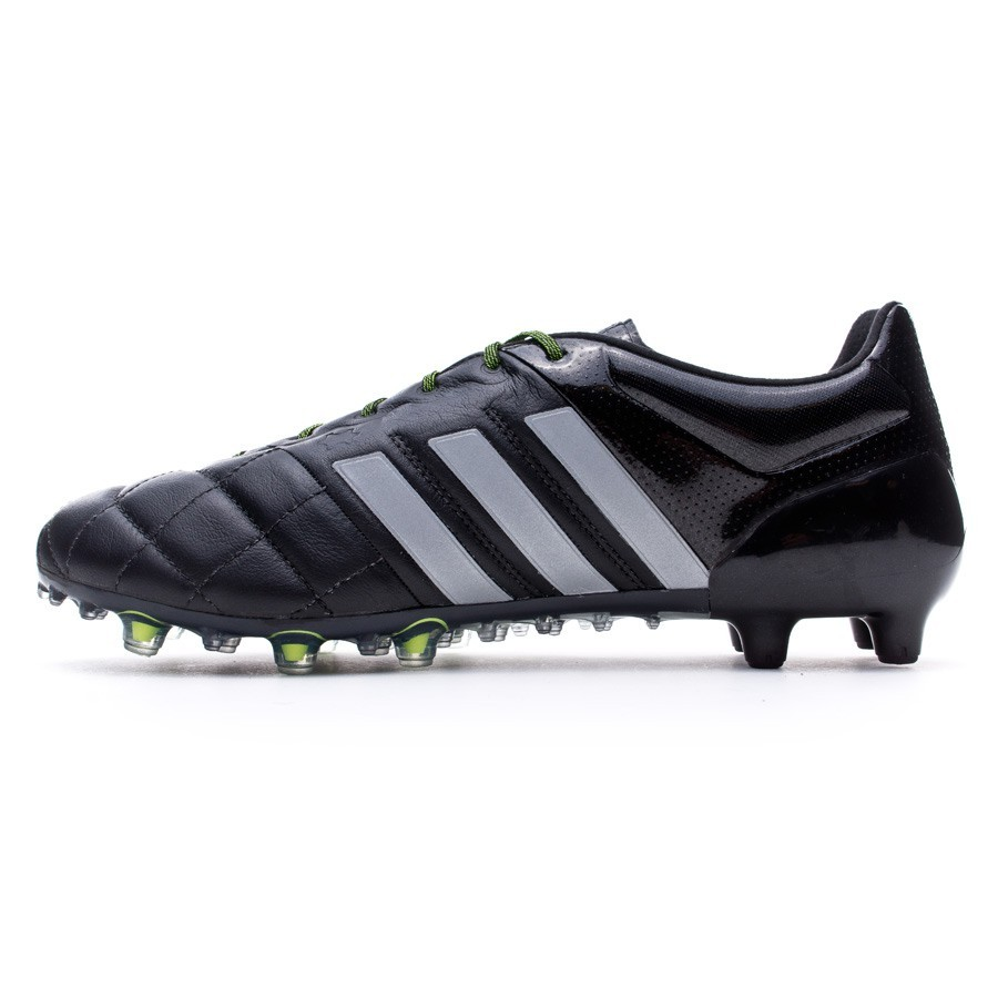 8ccd25f66 Boot adidas Ace 15.1 FG AG Piel Core black-Silver metallic-Solar yellow -  Football store Fútbol Emotion