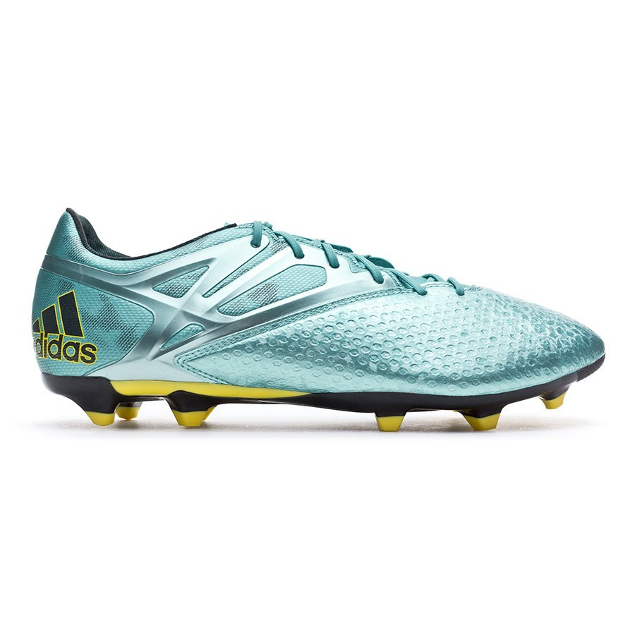 Chuteira adidas Messi 15.2 FG AG Matt ice metallic-Bright yellow-Core black  - Loja de futebol Fútbol Emotion 9c57871a40263