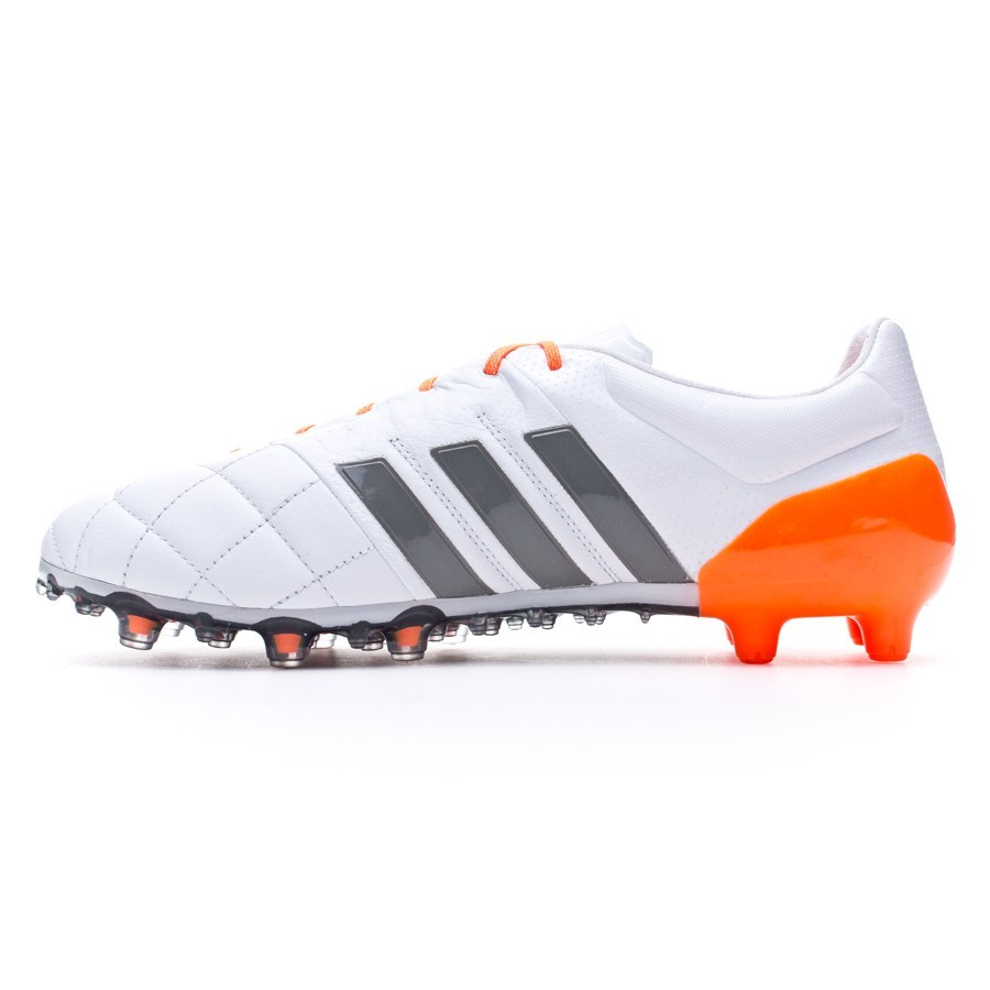 new styles 7f873 85025 Scarpe adidas Ace 15.1 FG AG Women Pelle White-Iron metallic-Solar orange -  Negozio di calcio Fútbol Emotion