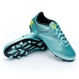 Bota  adidas Messi 15.3 FG/AG Niño Matt ice metallic-Bright yellow-Core black