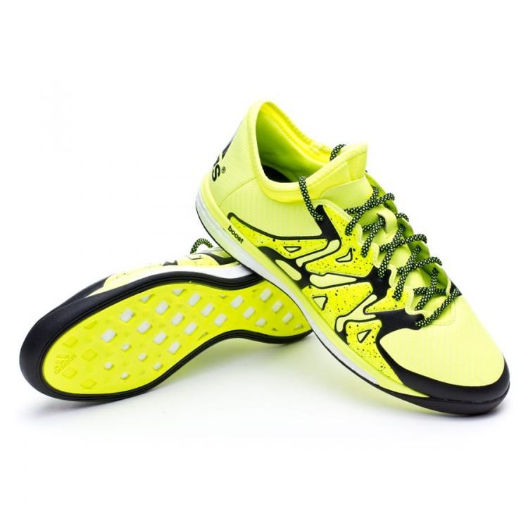 Futsal Boot adidas X 15.1 Boost Solar yellow-Core black-Frozen ... d9a770252