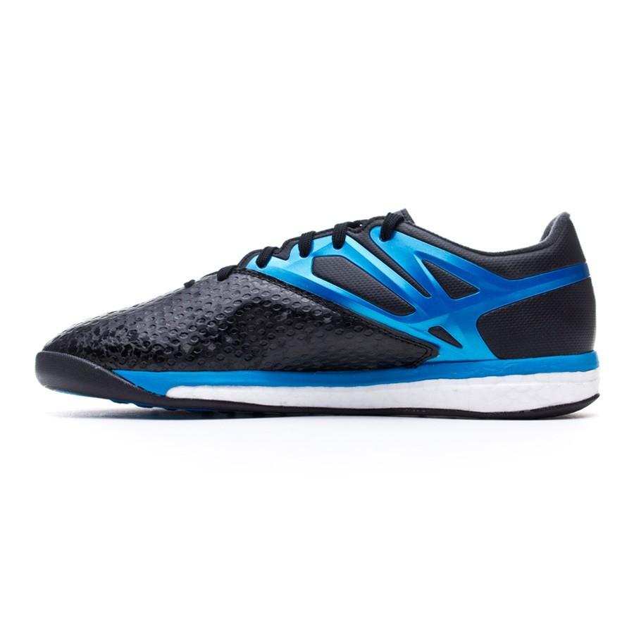 811f29fba Futsal Boot adidas Messi 15.1 Boost Core black-Solar blue-Zero metallic -  Tienda de fútbol Fútbol Emotion