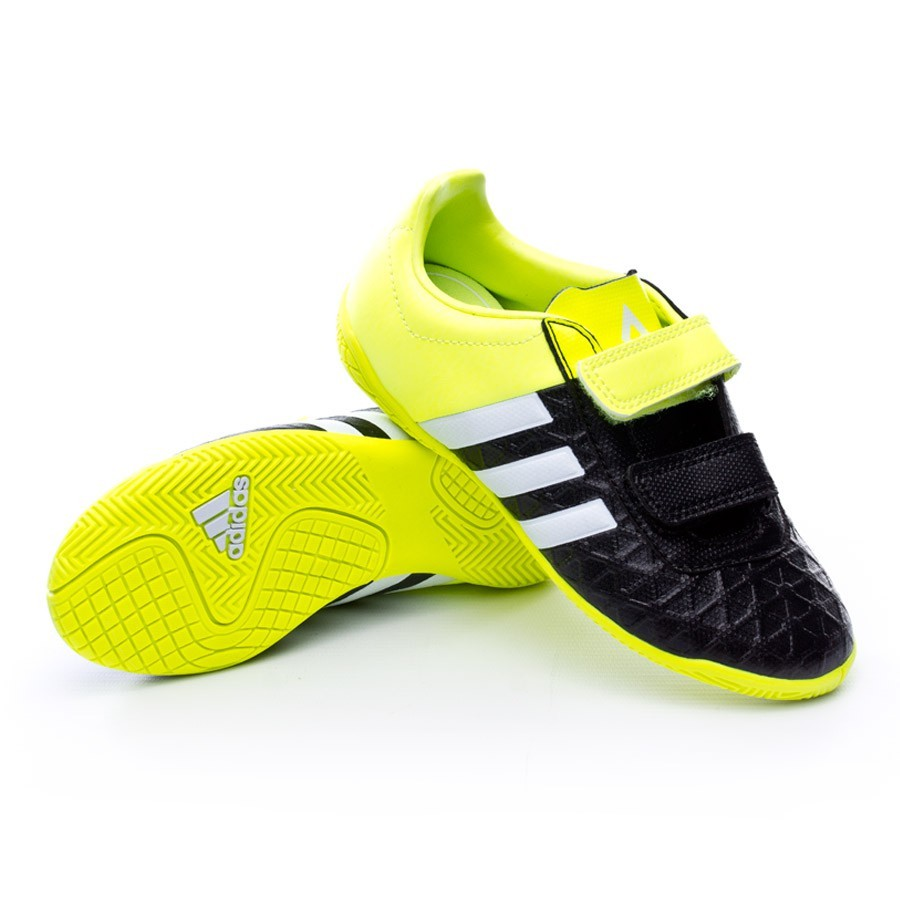 more photos ccee7 b6973 Futsal Boot adidas Jr Ace 15.4 IN Velcro Core black-White-Solar yellow -  Football store Fútbol Emotion