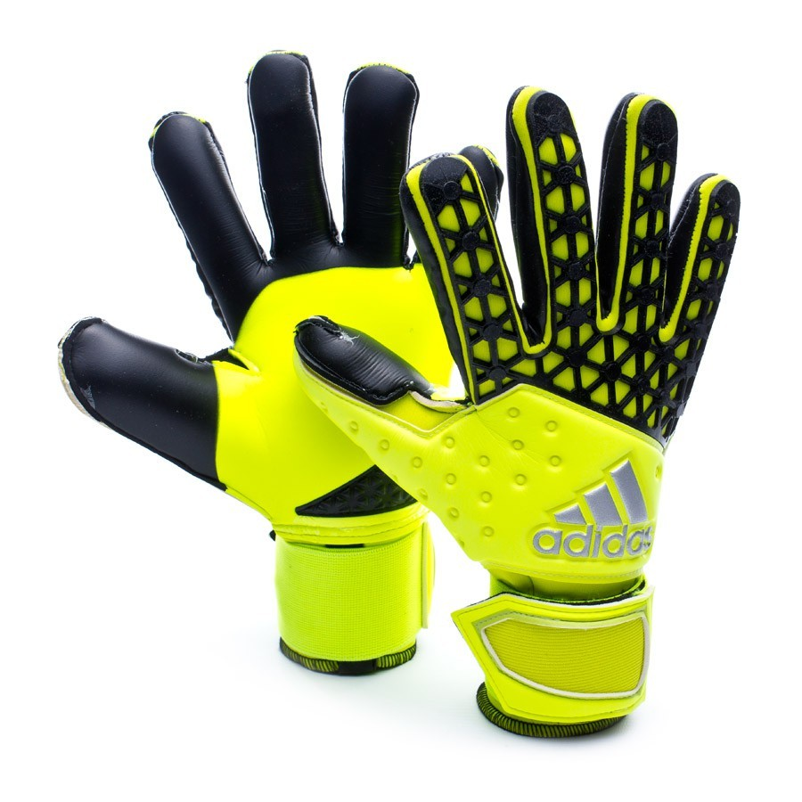 Glove adidas Ace ZONES Pro Solar yellow-Semi solar yellow-Black - Football  store Fútbol Emotion 4e70a2a70249
