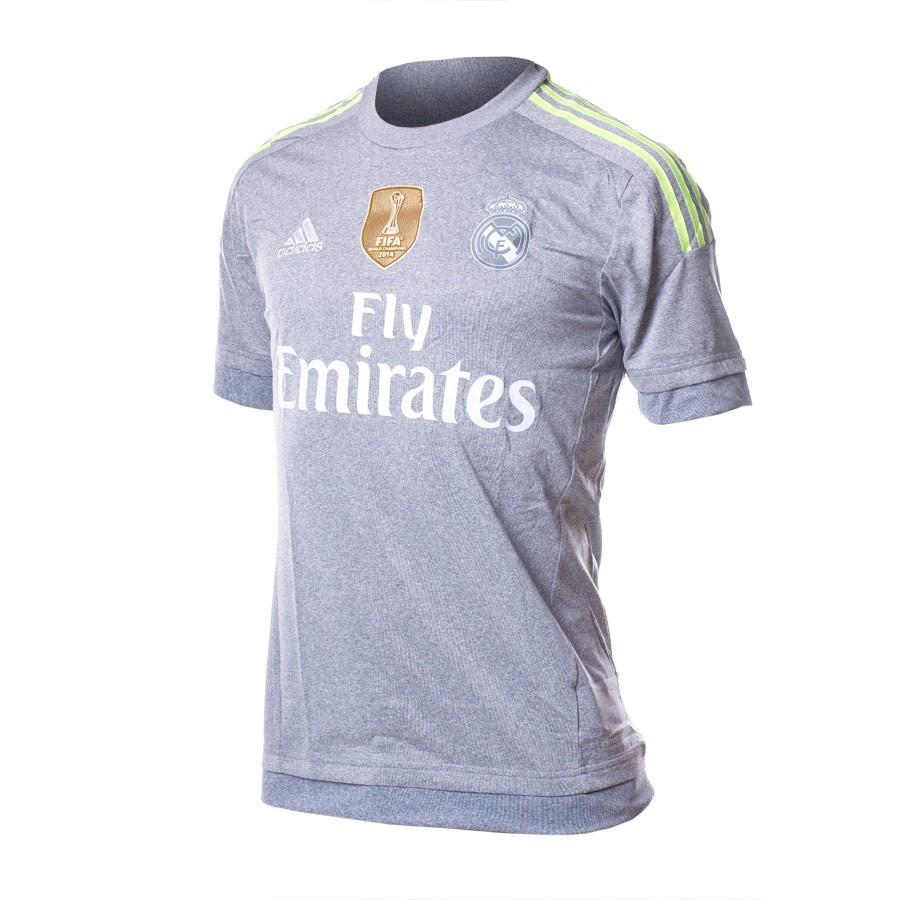 97fcbaf9d Camiseta adidas Real Madrid Segunda Equipación 15-16 Grey-Solar yellow -  Tienda de fútbol Fútbol Emotion