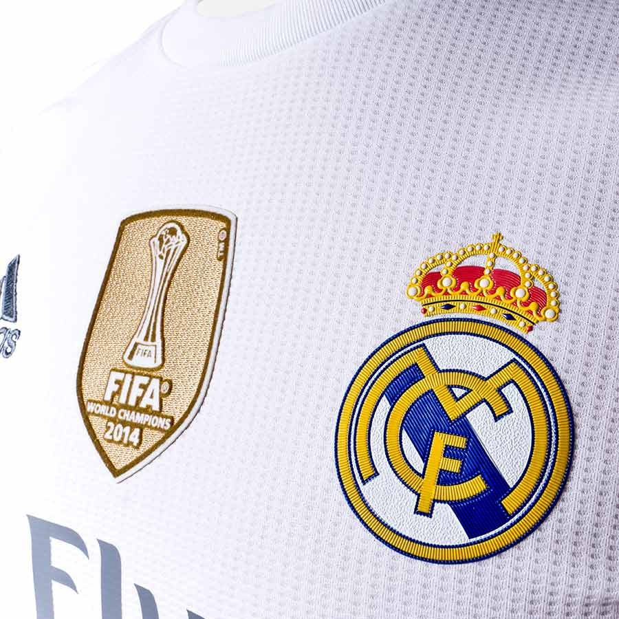 7194487ee Jersey adidas Real Madrid M/L Home 15-16 CL White-Clear grey - Football  store Fútbol Emotion