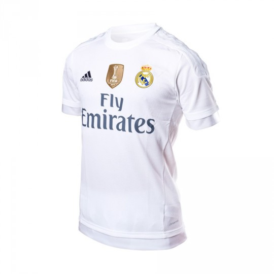 Camiseta  adidas Real Madrid Home 15-16 White-Clear grey