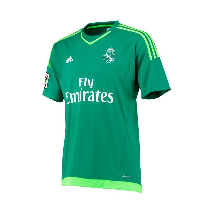 6816d9d58 Camiseta adidas Portero Real Madrid Segunda Equipación 15-16 Bold  green-Solar green - Tienda de fútbol Fútbol Emotion