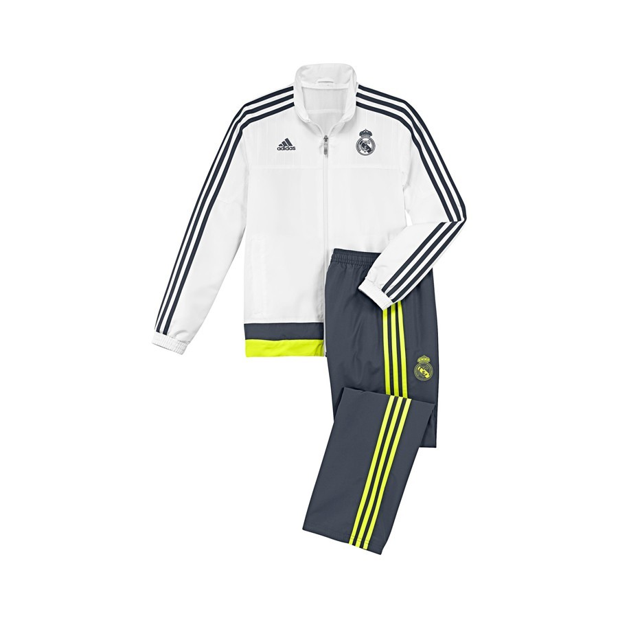 0f03d36520bb9 Tracksuit adidas Real Madrid 15-16 White-Deepest space-Solar yellow ...