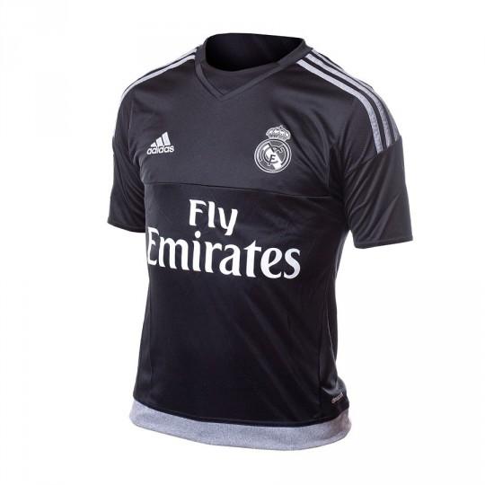 Camiseta  adidas jr Portero Real Madrid Home 15-16 Black-grey
