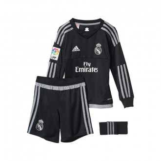 Completo  adidas Jr Portiere Real Madrid Home 15-16 Black-grey