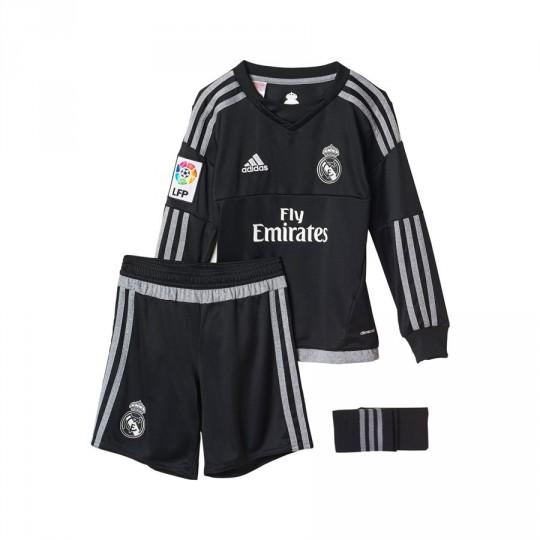 Conjunto  adidas Jr Portero Real Madrid Home 15-16 Black-grey