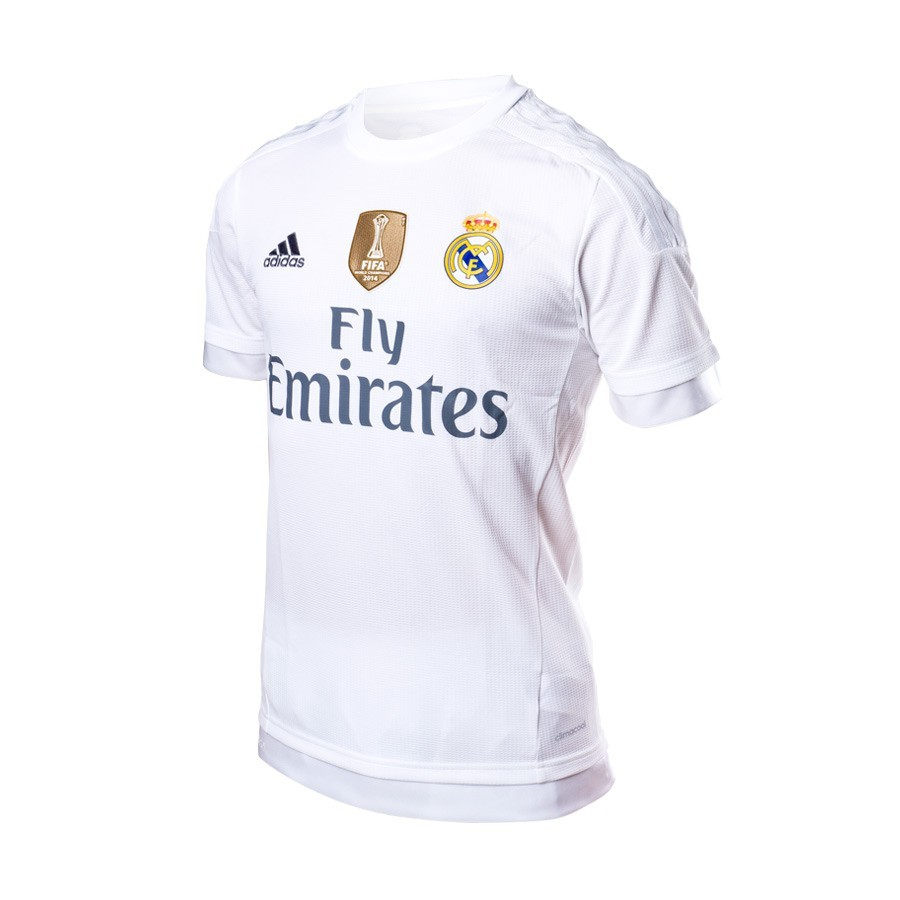 c4a2339a10 Jersey adidas Jr Real Madrid Home 15-16 CL White-Clear grey ...