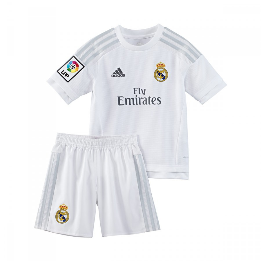 f451ee07b Kit adidas Jr Real Madrid Home 15-16 White-Clear grey - Football ...