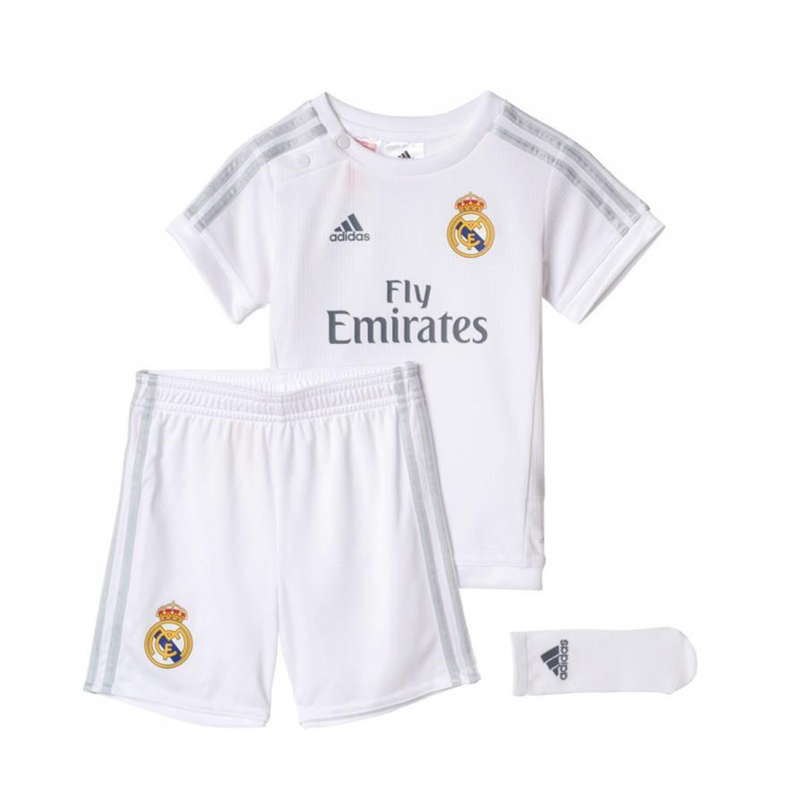 0e2997649 Kit adidas Real Madrid Home Bebe 15-16 White-Clear grey - Football ...