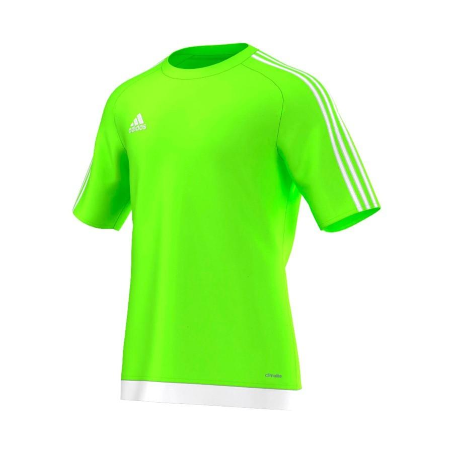 Camiseta adidas Estro 15 m c Verde flúor-White - Soloporteros es ahora  Fútbol Emotion c94c6a4f4d965