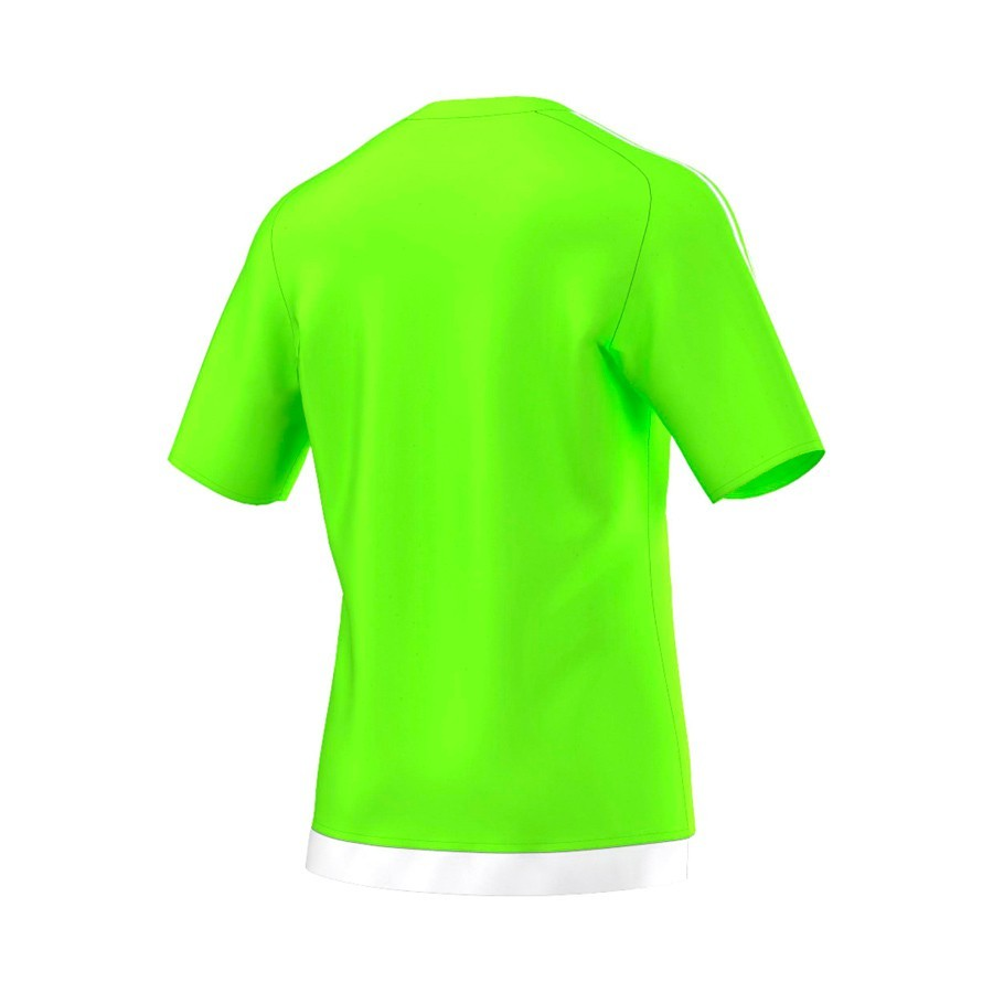 Jersey adidas Estro 15 SS Safety green-White - Football store Fútbol ... ed7a7bca0