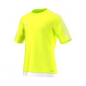 Jersey  adidas Estro 15 SS Fluorescent yellow-White