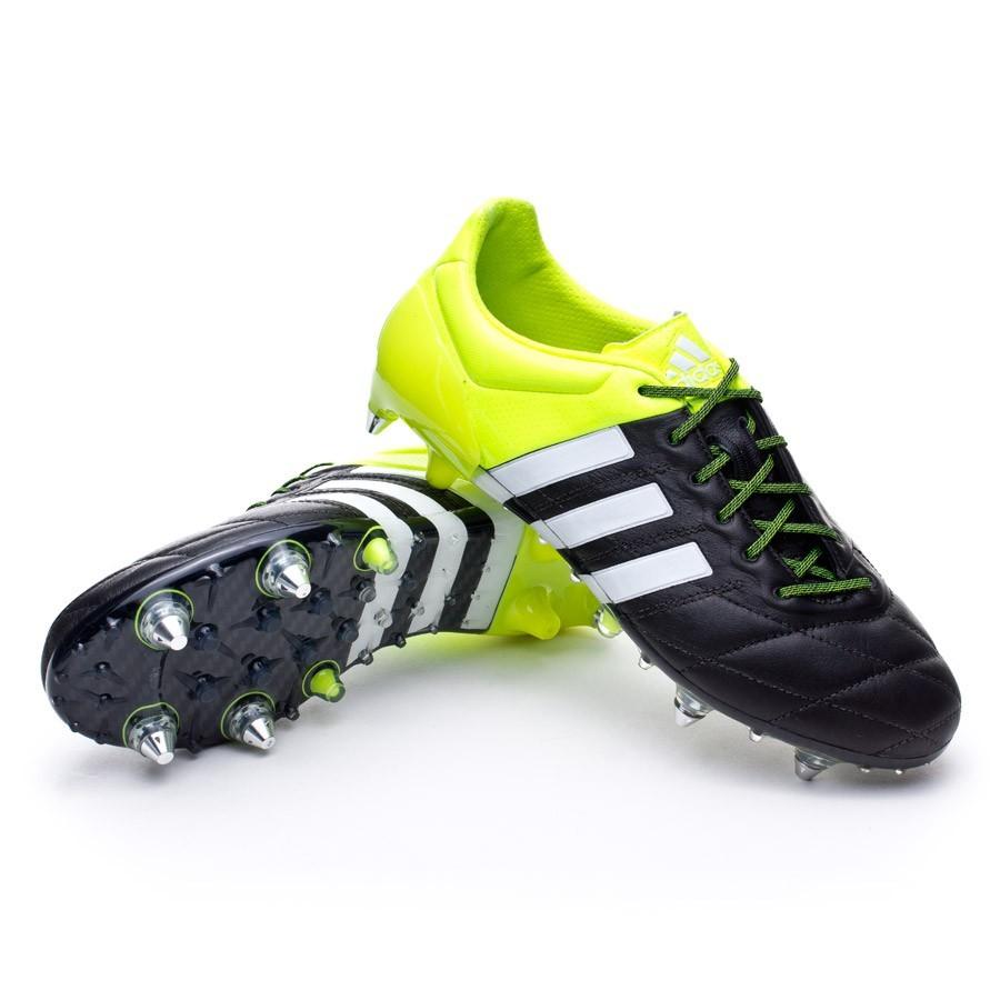 da505a5795a74 Football Boots adidas Ace 15.1 SG Piel Solar yellow-White-Core black ...